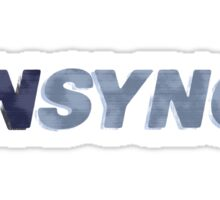 Nsync - weathered logo Sticker