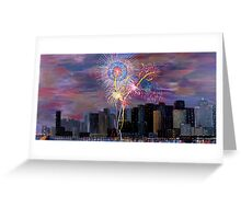 City Celebration San Francisco Bay Bridge  Greeting Card