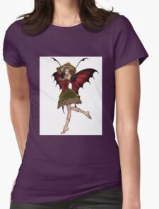 Christmas Fairy Elf Girl Womens Fitted T-Shirt