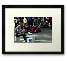 The Drummer Is Amazing Framed Print