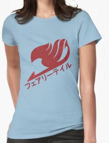 Dragon-Scale Fairy Tail Logo Womens Fitted T-Shirt