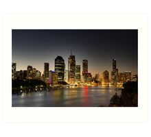 Brisbane @ Dusk Art Print
