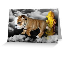 ☀ ツ UP IN THE CLOUDS WHAT DO I SEE A FIRE HYDRANT JUST WAITING FOR ME (SENDING EMAIL)CARD/PICTURE☀ ツ Greeting Card