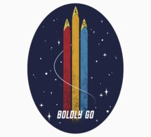 Boldly Go (Sticker) by Cristina K.