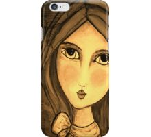 iphone case Penelope Lili Bow Sepia iPhone Case/Skin