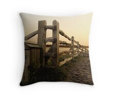 Holy Island Sunset Throw Pillow