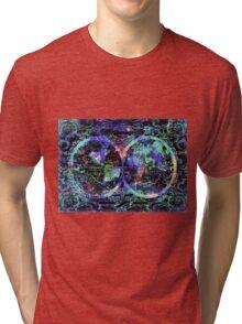 world map antique 5 Tri-blend T-Shirt