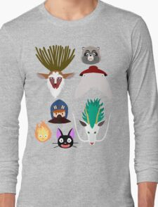 Ghibli characters ~ 2 Long Sleeve T-Shirt