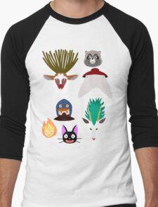 Ghibli characters ~ 2 Men's Baseball ¾ T-Shirt