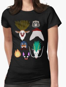 Ghibli characters ~ 2 Womens Fitted T-Shirt