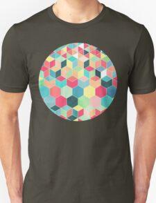 Yummy Summer Colour Honeycomb Pattern Unisex T-Shirt