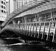 Man on Footbridge by Karen E Camilleri