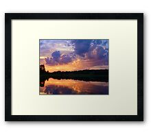 Colorful Sunset in the Catskills Framed Print