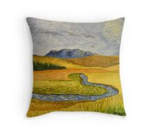 """""""On the Road to Ullapool"""" Throw Pillow"""