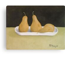 """Three Pears""  Canvas Print"