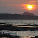 Sunset Over Bamburgh Castle by James1980