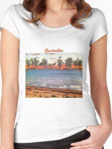 Australia's Desert Outback Women's Fitted Scoop T-Shirt