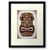 Africa Ethnic Mask Totem Framed Print