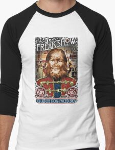 Jo Jo the dog face boy. Freakshow. Freak show. Side show. Carnival. Circus. Men's Baseball ¾ T-Shirt
