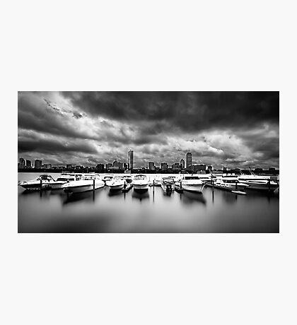 stormy boston Photographic Print