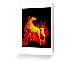 Stallion of the Inferno Greeting Card