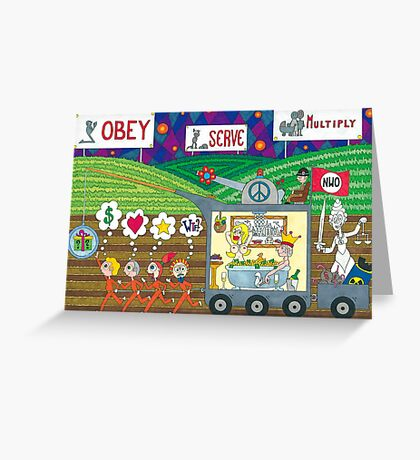 Obey Serve Multiply Greeting Card