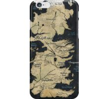 Map of Westeros iPhone Case/Skin
