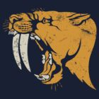 saber tooth cat stencil t-shirt by Richard Morden