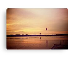 Balloon sunset Canvas Print