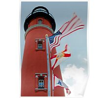 Ponce Inlet Flags Poster