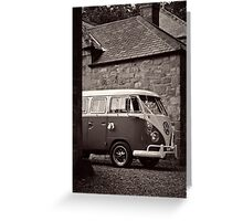 VW Wedding Bus Greeting Card