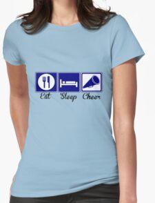 Eat, Sleep, Cheer Womens Fitted T-Shirt