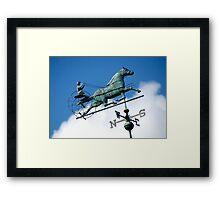 Riding through the clouds, Goshen New York  Framed Print