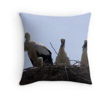 stork nest Throw Pillow