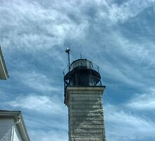 Beavertail Lighthouse, Narragansett Bay, Rhode Island USA by Jane Neill-Hancock