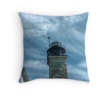 Beavertail Lighthouse, Narragansett Bay, Rhode Island USA Throw Pillow