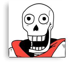 Undertale - Papyrus Stupid Face Canvas Print