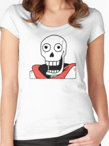Undertale - Papyrus Stupid Face Women's Fitted Scoop T-Shirt