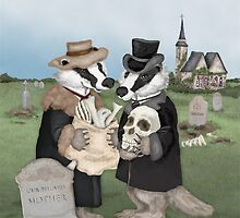 British Badgers Behaving Badly  by Kim  Harris