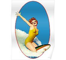 Vintage Surfer Poster