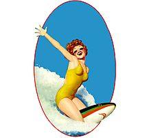 Vintage Surfer Photographic Print