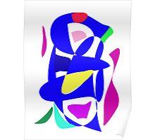 Blue Musical Instrument Poster