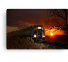Travel by Train Canvas Print