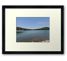Tranquil Moment at Leesville Lake Framed Print