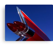 Red Cadillac Fin Canvas Print