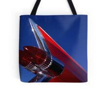 Red Cadillac Fin Tote Bag