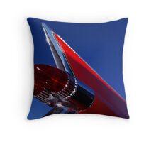 Red Cadillac Fin Throw Pillow