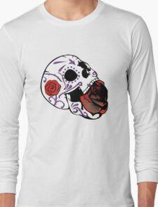 Rose Skull Long Sleeve T-Shirt