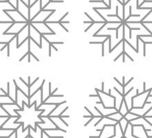 minimalist snow flakes Sticker