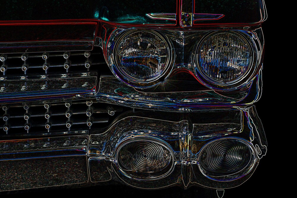 Cadillac Neon Grill by wayneyoungphoto